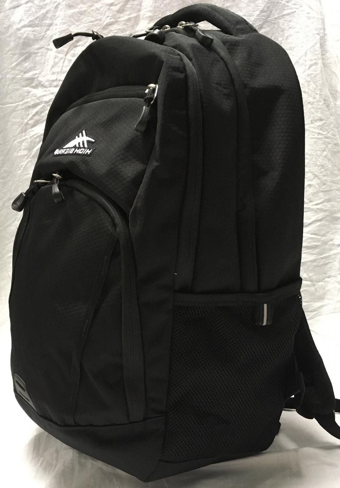NEW High Sierra Laptop Backpack Everyday RIPRAP Black Organi