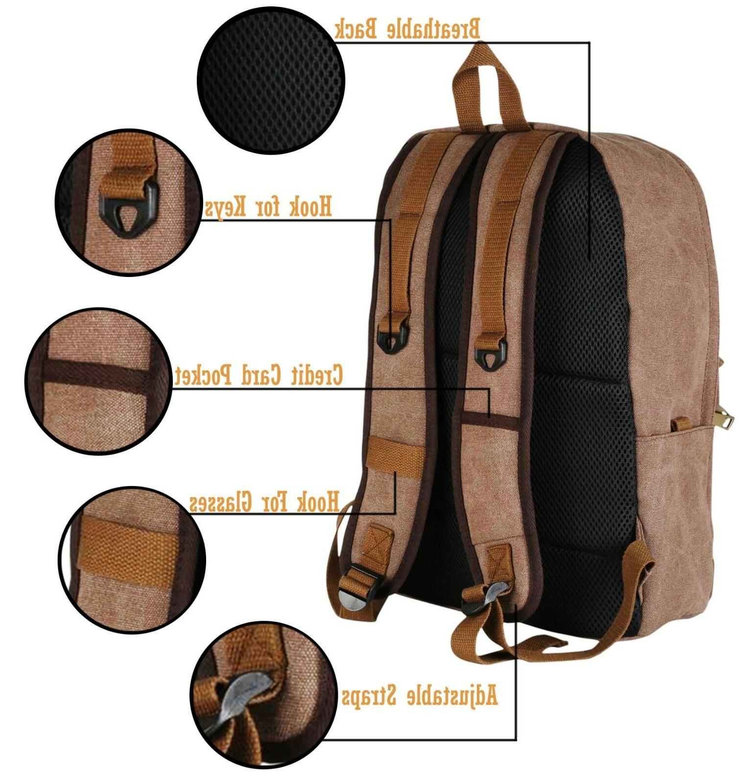 School Backpack Business Laptop Backpack Water USB