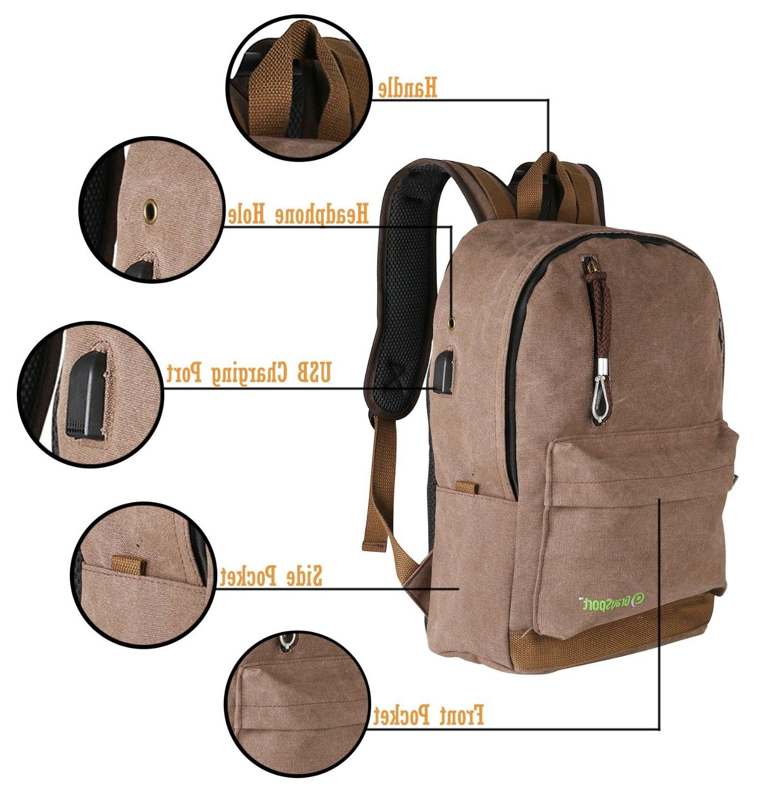 Backpack Water Resistant USB