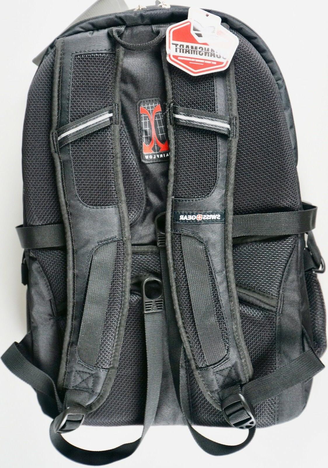 Swiss Gear Laptop Backpack Tablet Safe Durable Black