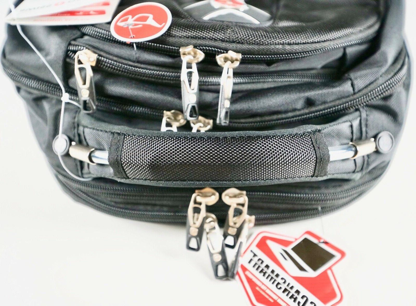 "Swiss Gear 17"" Inch Laptop Backpack Safe Durable TSA Scan Black"