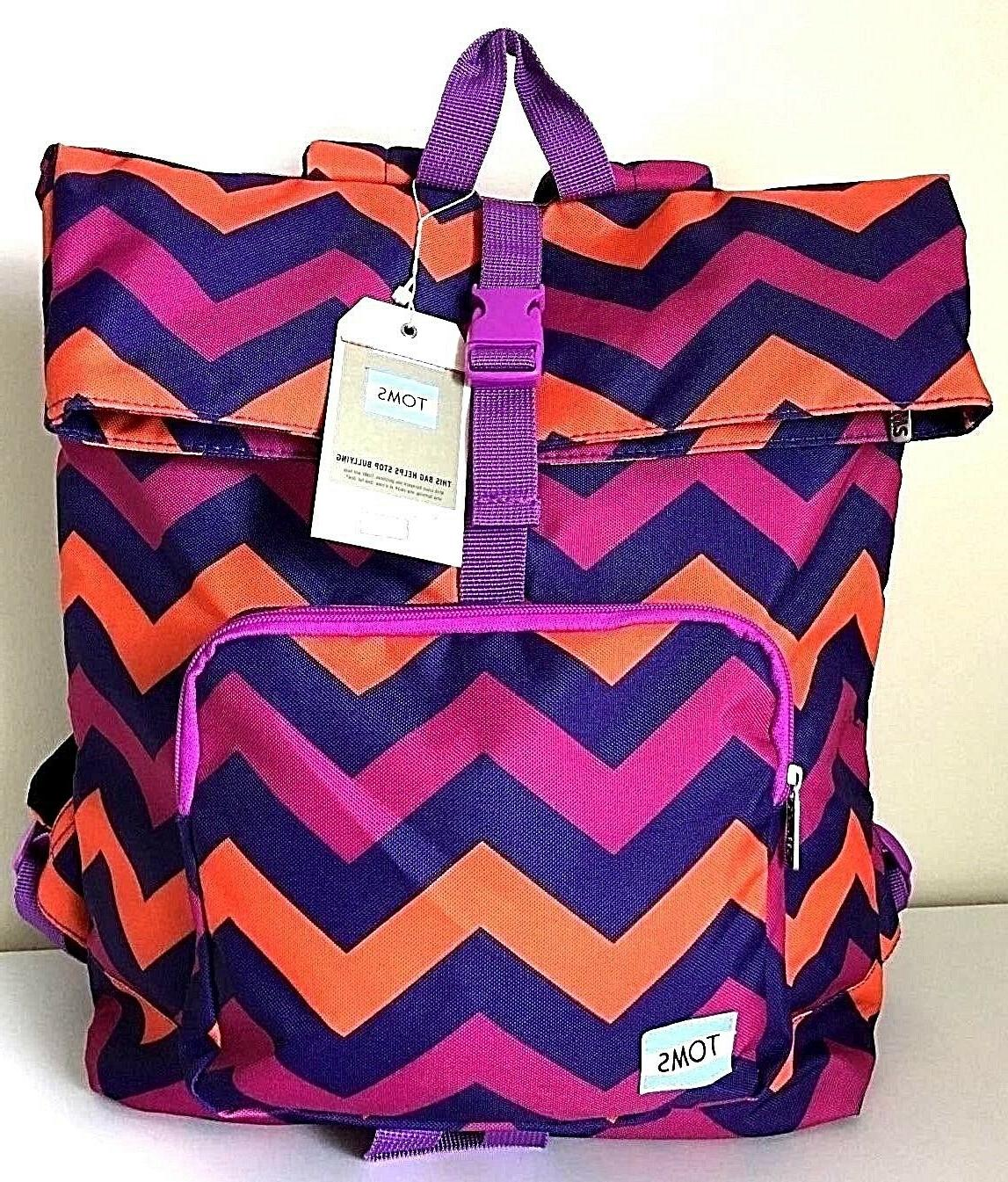 TOMS Stand Up To Bullying Backpack Chevron Laptop Bag School