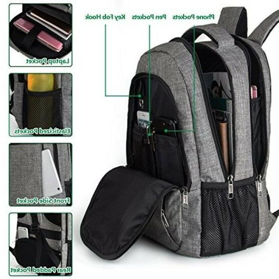Travel Anti Theft Slim Durable Laptops Backpack US