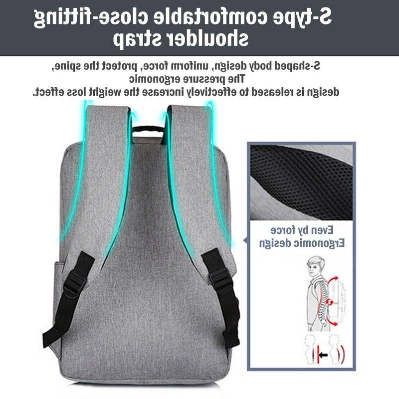Adisputent <font><b>Laptop</b></font> School Rucksack Theft Backbag Daypacks Male Mochila
