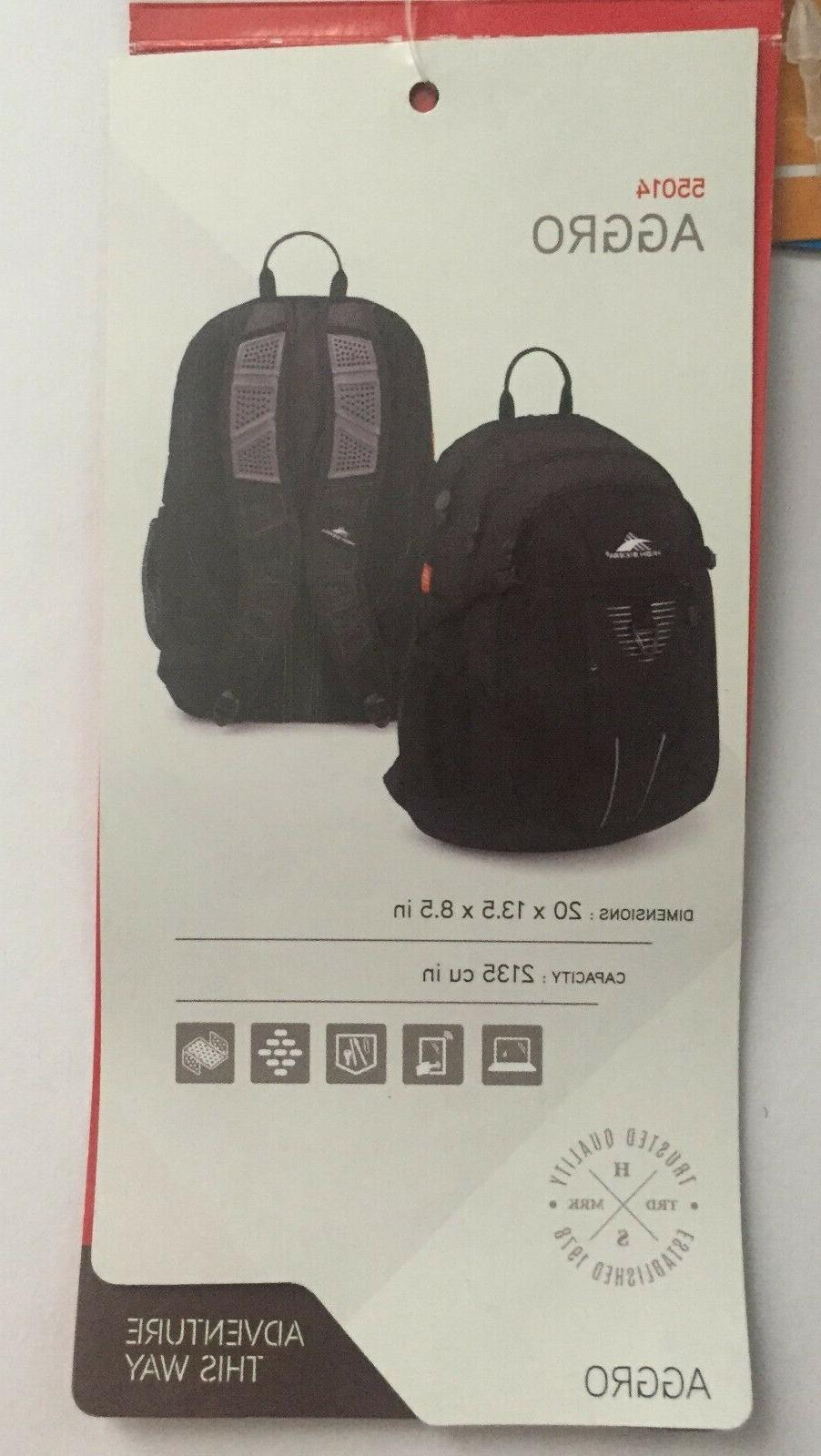 High Sierra AGGRO Backpack New Tablet, SHIPS FREE