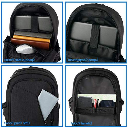 Anti Theft Business Port 15.6 Laptop, Travel Bookbag for MacBook Computer, School Women & Men Mancro