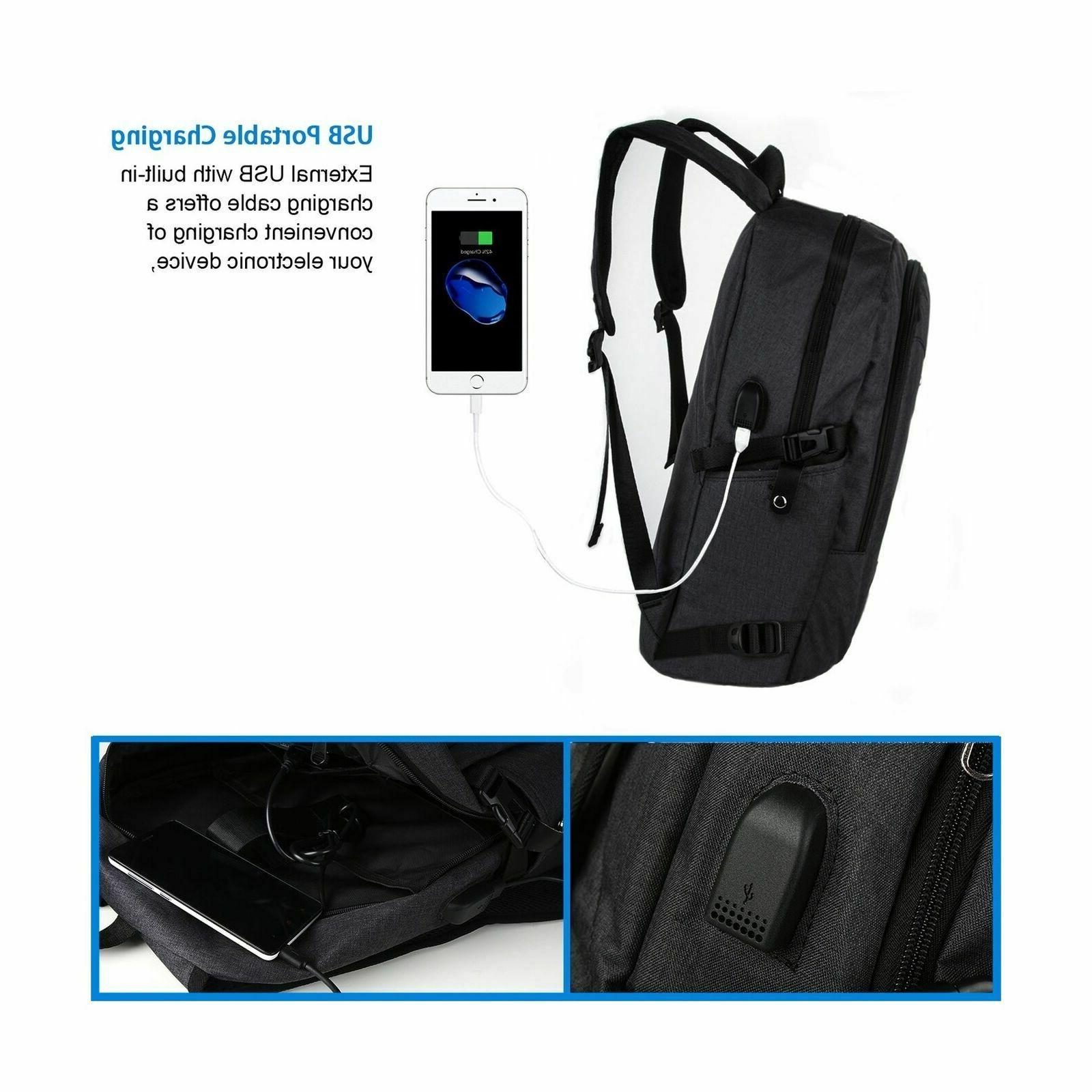 Anti Theft Backpack USB Port