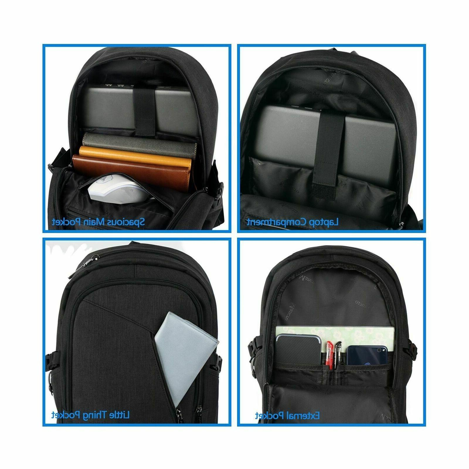 Anti Theft Business Backpack Port Mancro