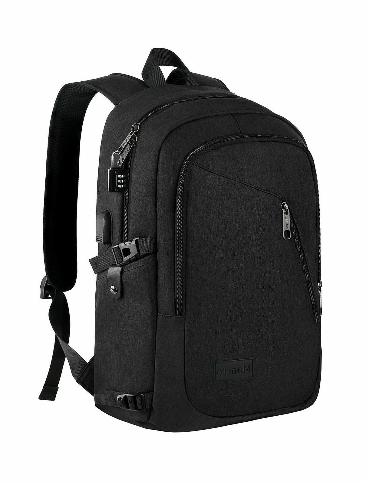 anti theft business laptop backpack with usb