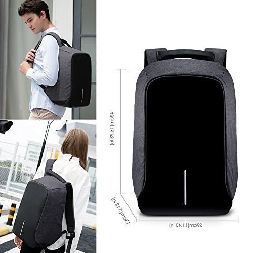 Anti Backpack, SKL Waterproof Charging Port Backpack for Work Student