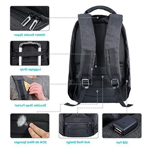 SKL Bags Waterproof Lightweight Charging Backpack for Work Student