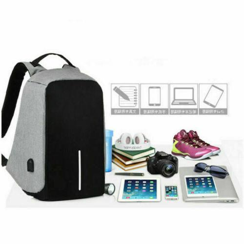 Anti-theft Laptop Notebook Backpack +USB Charging Port School Bag Travelling