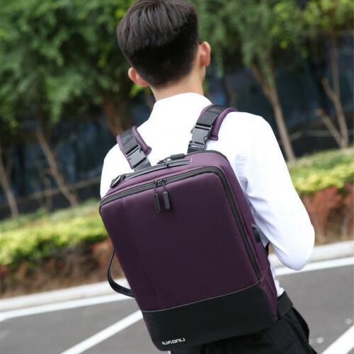 USB Charger Laptop Backpack Men Anti-theft Waterproof Busine