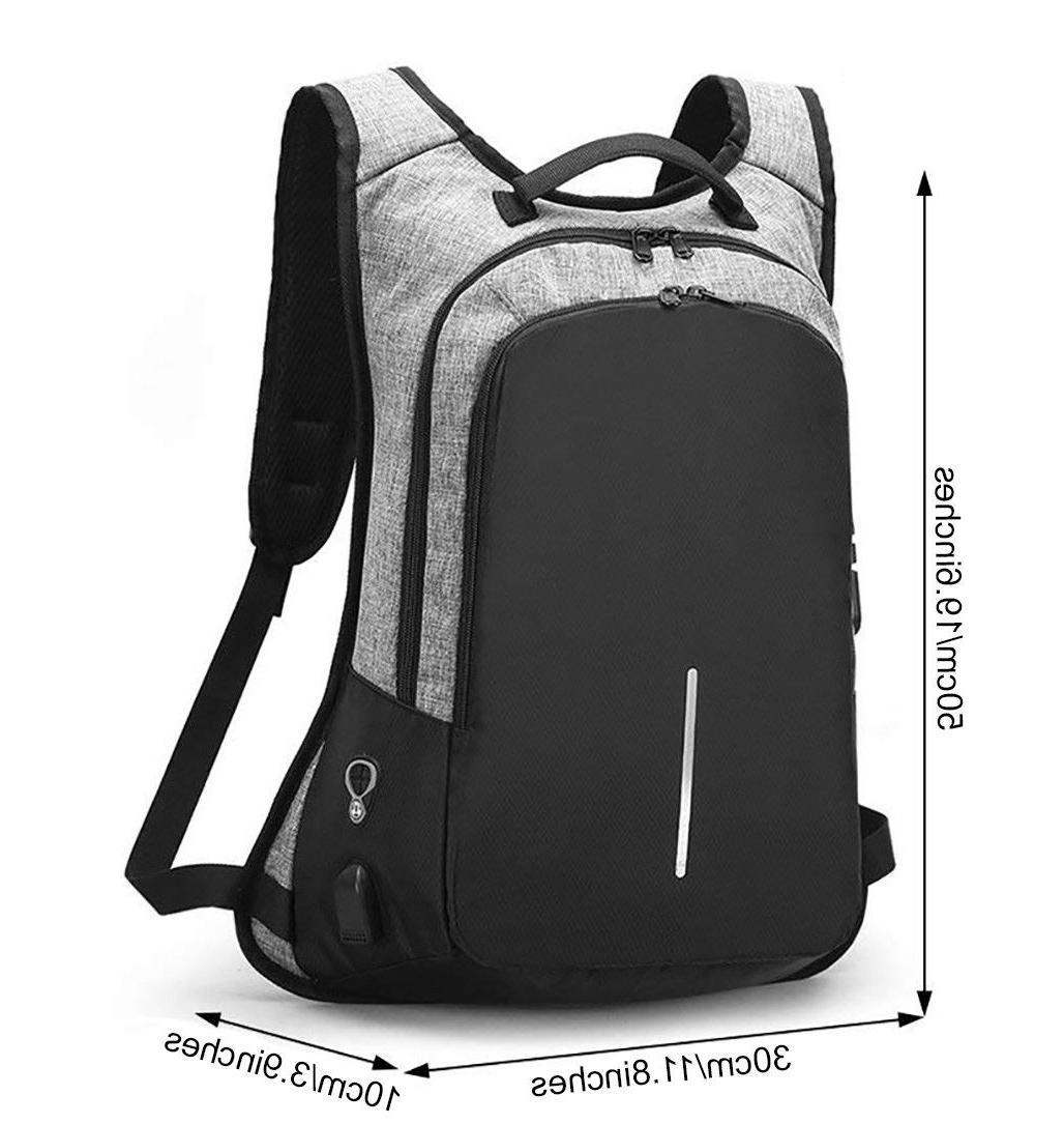 Anti-Theft Women Backpack External Port Laptop