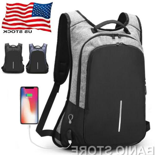 anti theft men women travel backpack usb
