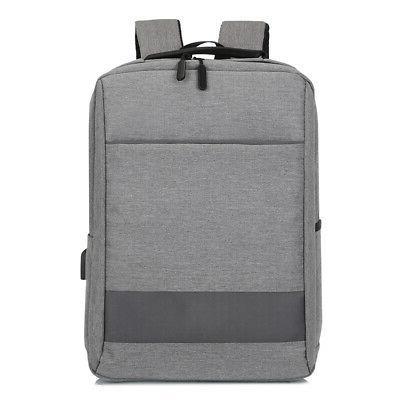 """15.6"""" Laptop Backpack USB Mens School Shoulder"""