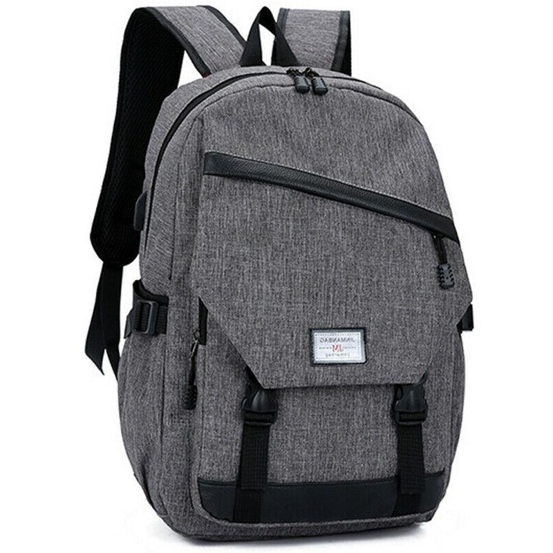 Anti-theft Mens Backpack Laptop School Shoulder