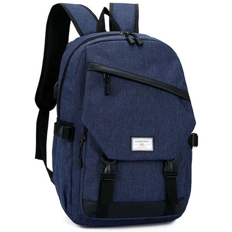 Anti-theft USB Charging Backpack Notebook Travel School