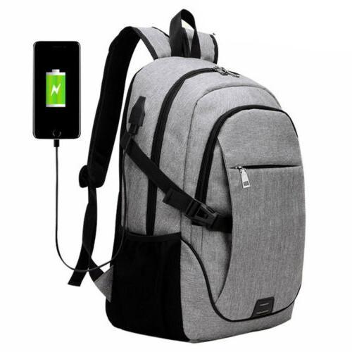 Anti-Theft Mens Charging Shoulder Backpack Notebook Travel School Bag