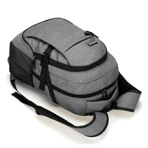 Anti-theft Mens USB with Charger Backpack