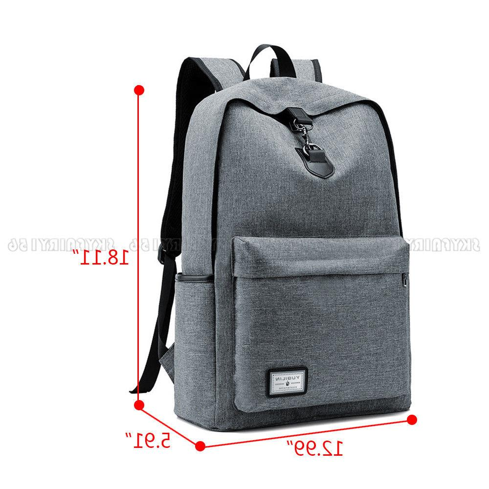 Anti-theft Mens Womens Charging Backpack Laptop Travel School Bag