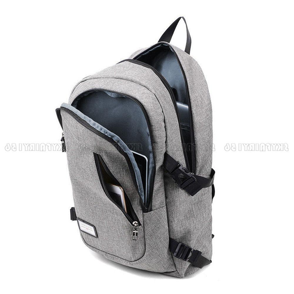 Anti-theft Womens Charging Backpack Laptop Notebook Travel School Bag