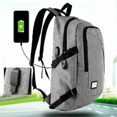 Anti-theft Rucksack Charging Port Backpack Laptop Travel Bag