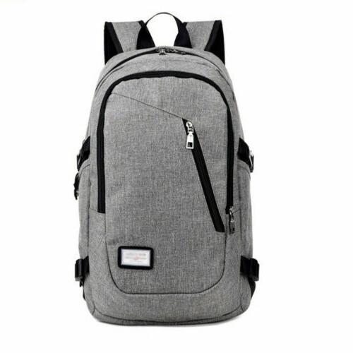 Anti-theft Rucksack USB Charging Port Travel School Bag