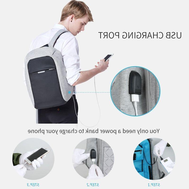 Anti-theft Backpack Business Laptop School Bag with USB Charger Port