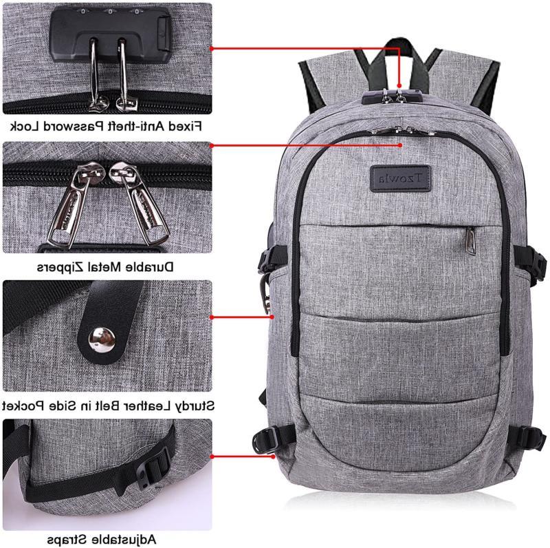Travel Water Resistant Bag USB Charging Port &Lock