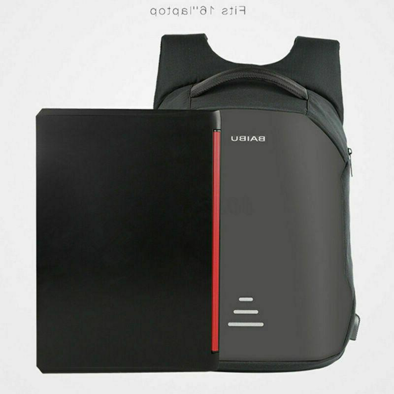 Anti-Theft Backpack USB Charge Laptop School