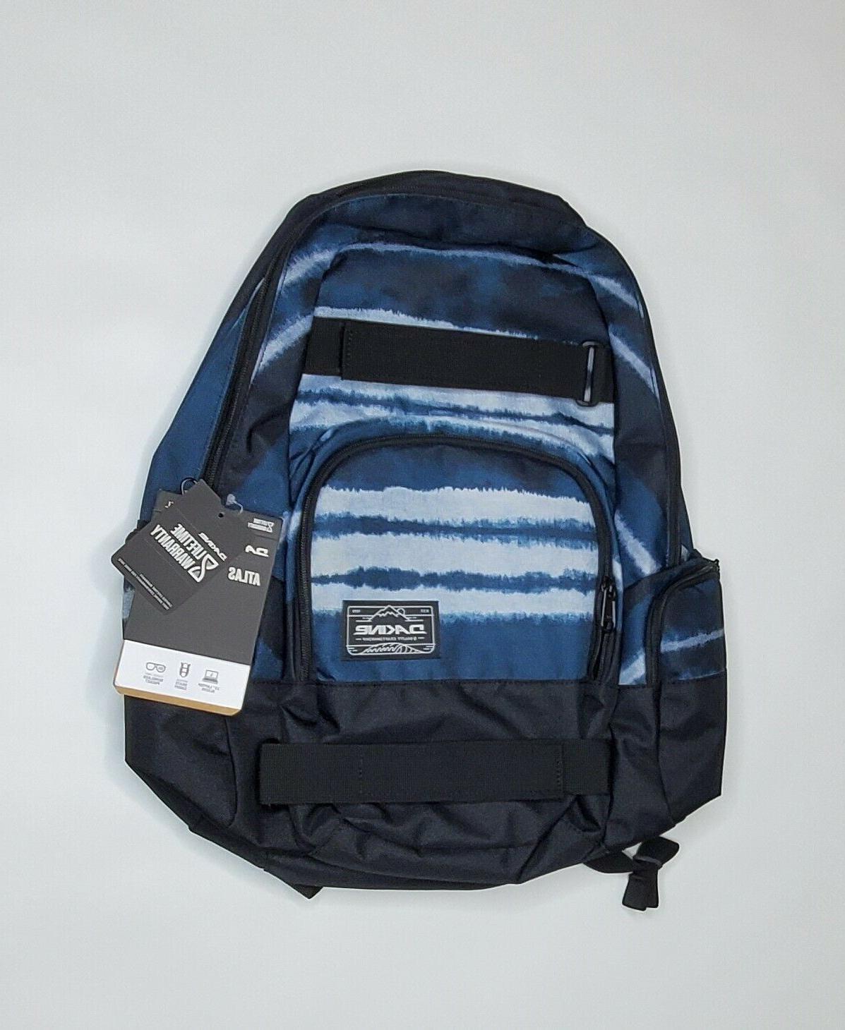atlas backpack 25l skateboard carry straps laptop
