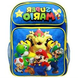Backpack - Nintendo - Super Mario Group Blue 16 School Bag N