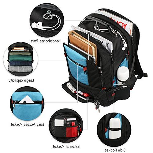 Extra Large Backpack, Lightweight with Usb Port/Headphone Men 17 inch