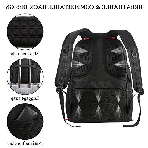 Inch Laptop Backpack,Large TSA Friendly with Luggage High School Bookbag with Charger Port,