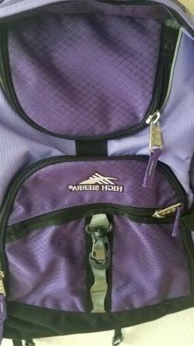 High Sierra backpack padded laptop airflow/tech spot