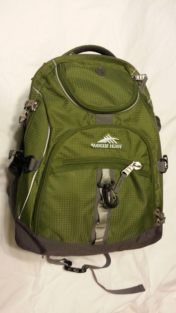 backpack padded laptop suspension straps green airflow