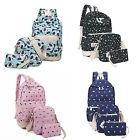 3pcs Women Girl Backpack School Bags Shoulder Bag Rucksack C