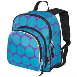 """Wildkin Big Dots Aqua Pack """"n Snack Backpack"""