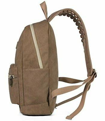 Kinmac Brown Size Laptop Backpack Massage Straps