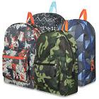 "Lot of 24 Wholesale Bulk 17"" Boys School Backpacks Backpack"