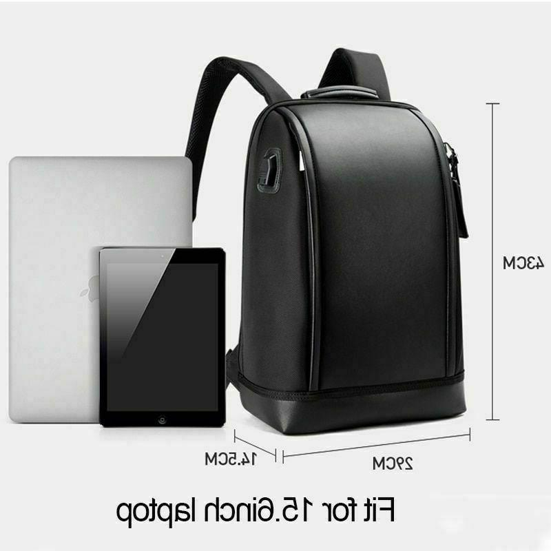 BOPAI Business Laptop Backpack Anti-Theft USB Charging Port Rucksack-Black