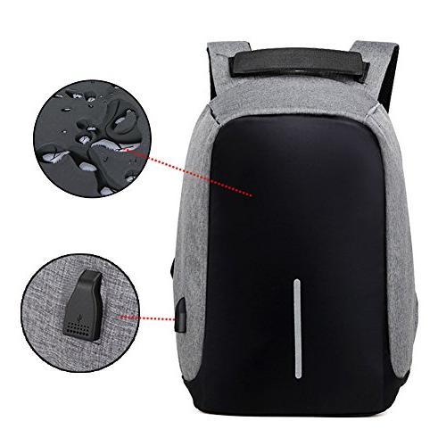 Business Backpack USB Charging Port Women Student Backpack