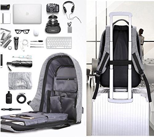 Business Laptop Backpack with USB Water Resistant Women Student Fits Under Laptop Backpack