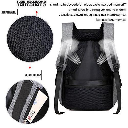 Business Laptop Backpack USB Charging Port Resistant Bag Men Women College Under Laptop Backpack