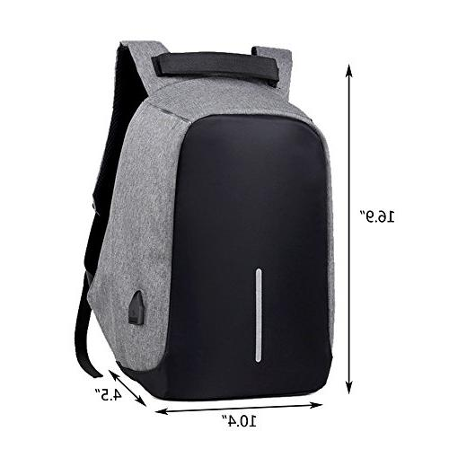 Business with USB Resistant Bag Women College Student Under 15.6-Inch Backpack