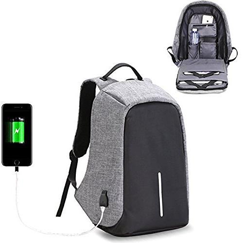 Business Laptop with USB Charging Port Water Resistant Bag Women Student Under 15.6-Inch Travel Backpack
