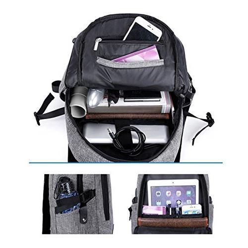 Xianheng Laptop Anti-theft USB Port School Daypack