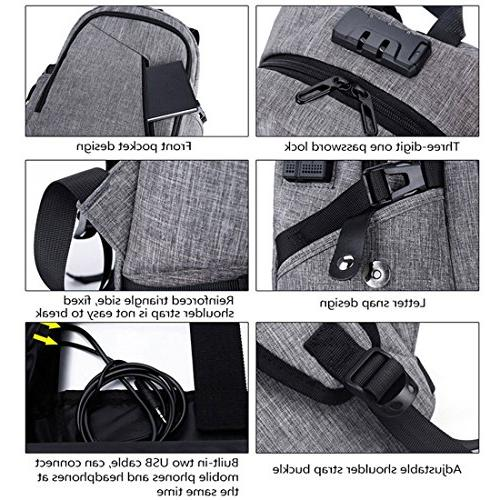 Xianheng Laptop Anti-theft with USB School Daypack Men