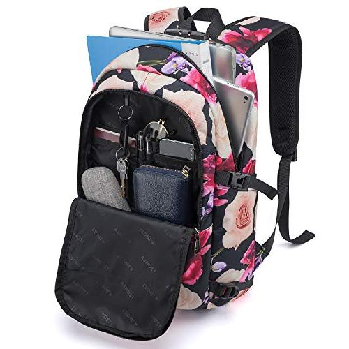 Tzowla Water Backpack Charging Port and Inch Computer Backpacks Women
